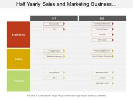Half Yearly Sales And Marketing Business Development Swimlane