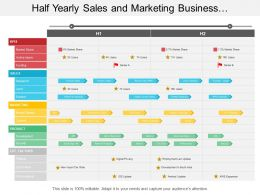 Half Yearly Sales And Marketing Business Development Timeline