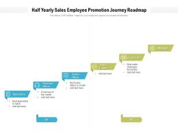 Half Yearly Sales Employee Promotion Journey Roadmap