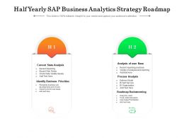 Half Yearly SAP Business Analytics Strategy Roadmap