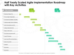 Half Yearly Scaled Agile Implementation Roadmap With Key Activities
