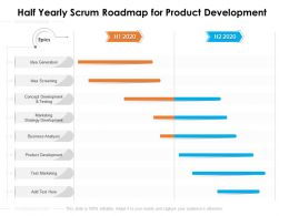 Half Yearly Scrum Roadmap For Product Development