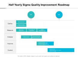 Half Yearly Sigma Quality Improvement Roadmap