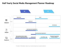 Half Yearly Social Media Management Planner Roadmap