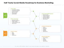 Half Yearly Social Media Roadmap For Business Marketing