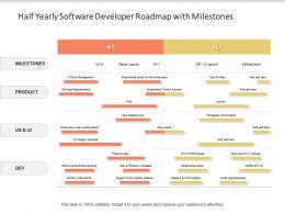 Half Yearly Software Developer Roadmap With Milestones