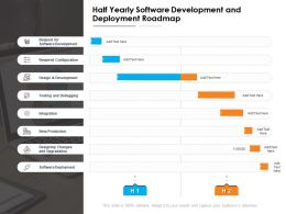 Half Yearly Software Development And Deployment Roadmap