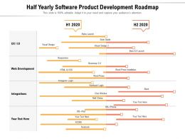 Half Yearly Software Product Development Roadmap