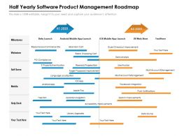 Half Yearly Software Product Management Roadmap