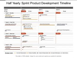 Half Yearly Sprint Product Development Timeline