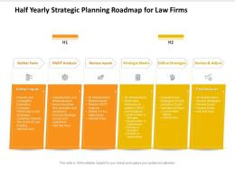 Half Yearly Strategic Planning Roadmap For Law Firms