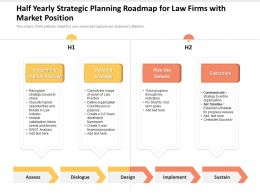Half Yearly Strategic Planning Roadmap For Law Firms With Market Position