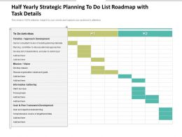Half Yearly Strategic Planning To Do List Roadmap With Task Details