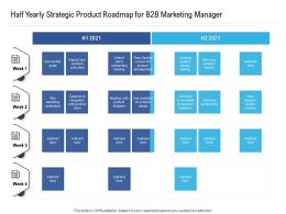 Half Yearly Strategic Product Roadmap For B2B Marketing Manager