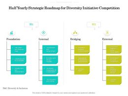 Half Yearly Strategic Roadmap For Diversity Initiative Competition