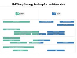 Half Yearly Strategy Roadmap For Lead Generation
