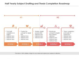 Half Yearly Subject Drafting And Thesis Completion Roadmap
