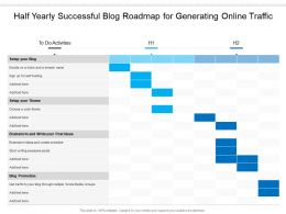 Half Yearly Successful Blog Roadmap For Generating Online Traffic