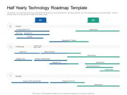 Half Yearly Technology Roadmap Timeline Powerpoint Template