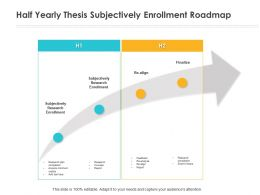 Half Yearly Thesis Subjectively Enrollment Roadmap