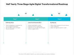 Half Yearly Three Stage Agile Digital Transformational Roadmap