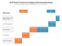 Half Yearly Timeline For Digital Advertising Roadmap