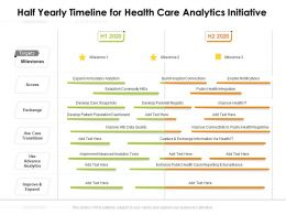 Half Yearly Timeline For Health Care Analytics Initiative