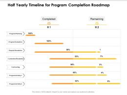 Half Yearly Timeline For Program Completion Roadmap