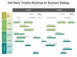 Half Yearly Timeline Roadmap For Business Strategy