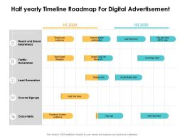 Half Yearly Timeline Roadmap For Digital Advertisement