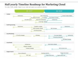 Half Yearly Timeline Roadmap For Marketing Cloud