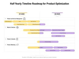 Half Yearly Timeline Roadmap For Product Optimization