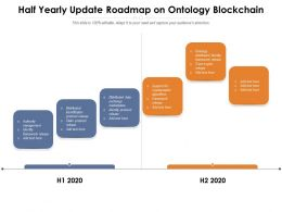 Half Yearly Update Roadmap On Ontology Blockchain