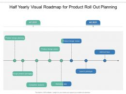 Half Yearly Visual Roadmap For Product Roll Out Planning