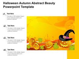Halloween Autumn Abstract Beauty Powerpoint Template