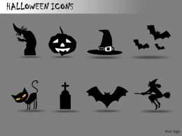 Halloween Icons Powerpoint Presentation Slides DB