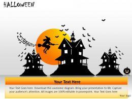 Halloween Powerpoint Presentation Slides DB