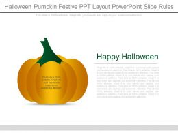 Halloween Pumpkin Festive Ppt Layout Powerpoint Slide Rules