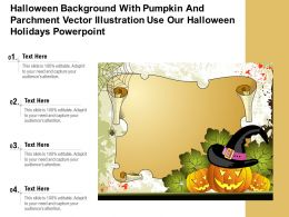 Halloween With Pumpkin Parchment Vector Illustration Use Our Halloween Holidays Template