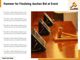 Hammer For Finalizing Auction Bid At Event