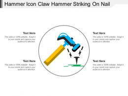 Hammer Icon Claw Hammer Striking On Nail