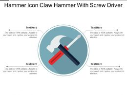 Hammer Icon Claw Hammer With Screw Driver