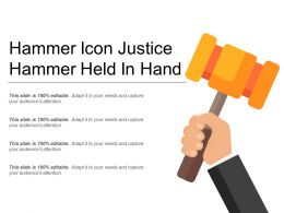 Hammer Icon Justice Hammer Held In Hand