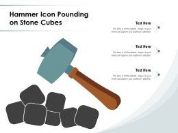 Hammer Icon Pounding On Stone Cubes
