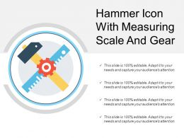 Hammer Icon With Measuring Scale And Gear