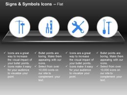 Hammer Playar Wrench Screw Driver Ppt Icons Graphics