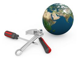hammer_screwdriver_globe_graphic_on_white_background_stock_photo_Slide01