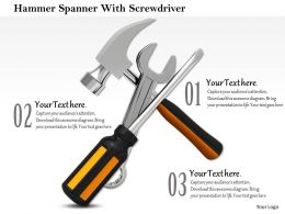 Hammer Spanner With Screwdriver Service Tools