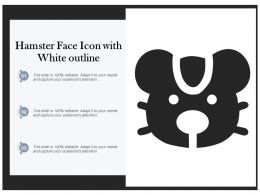 Hamster Face Icon With White Outline