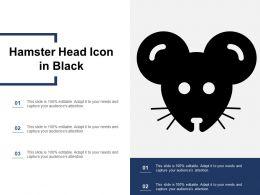 Hamster Head Icon In Black